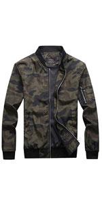 Men's Outdoor Lightweight Camouflage Bomber Jacket Windbreaker