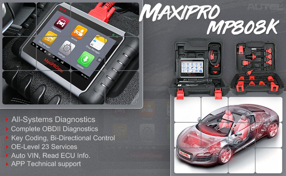Autel MP808K Diagnostics Scan Tool Automotive Scanner Banner
