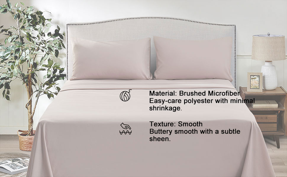 premium 4 piece king bed sheet set