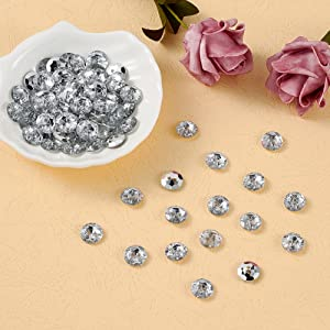 13mm Crystal Flower Buttons 2hole Flat Knitting Craft Bead Fastenings Sewing NEW