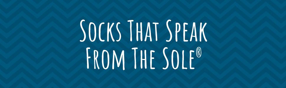 socks that speak from the sole lavley