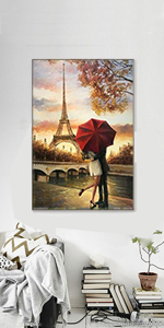 Eiffel Tower and Couple