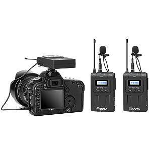 BOYA WM8 Pro-K2 Dual-Channel Wireless Lavalier Microphone System