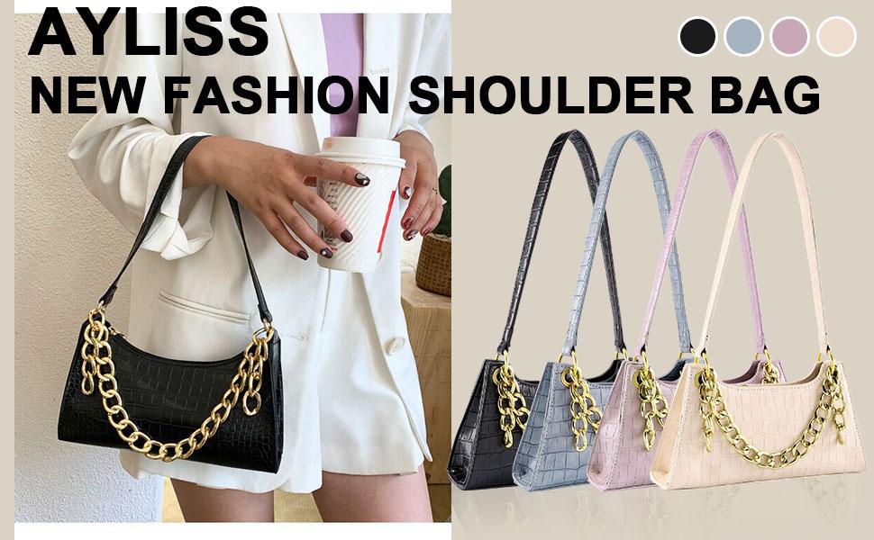 Women Shoulder Handbag Clutch Purse Tote Handbag Evening Dress Wallet Bag Crocodile Design