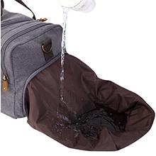 waterproof shoe compartment
