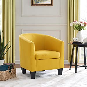 yellow sitting room chair parlour chair seating armchair for living room
