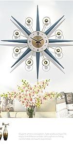 satellite sunburst wall clock