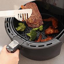 Innsky 5.5L Friggitrice ad aria calda 8 Funzioni Preimpostate + Funzione di Pausa/Riavvio ricettario plurilingue, Friggitrici senza olio, fornetto 1700W, Spegnimento Automatico senza BPA, PFOA