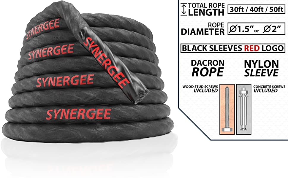 """1-5//8/"""" x 50/' Super Lock Exercise Workout Rope Battle Rope"""