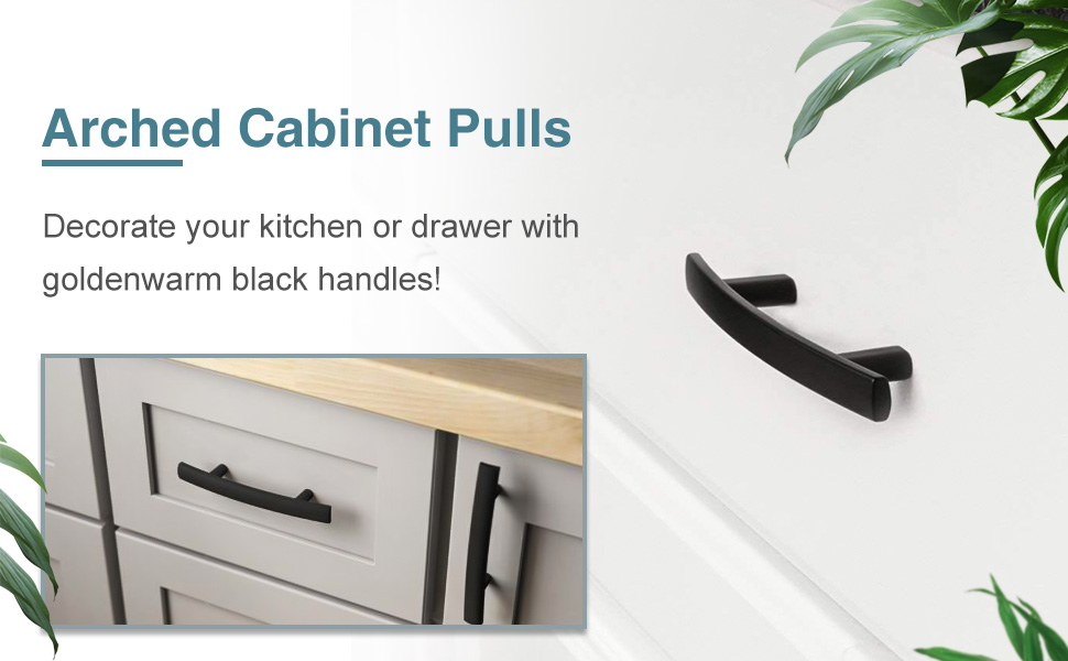 Curved Arch Kitchen Cabinet Handles