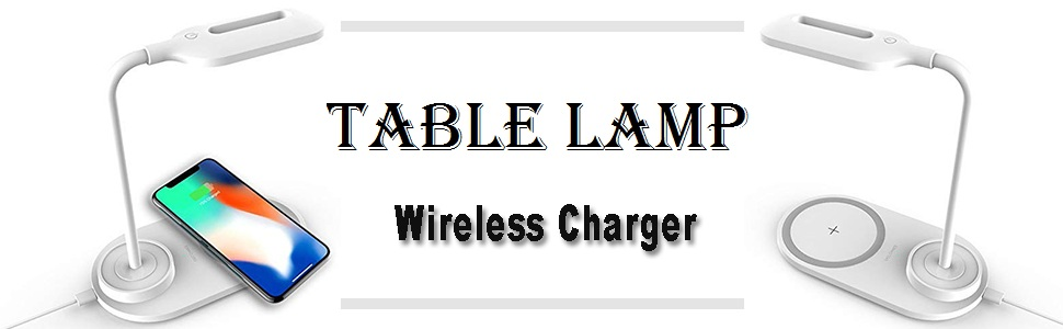 Wireless Charger With Table Lamp