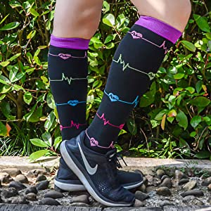 knee high running socks graduated compression socks athletic socks for medical for swelling