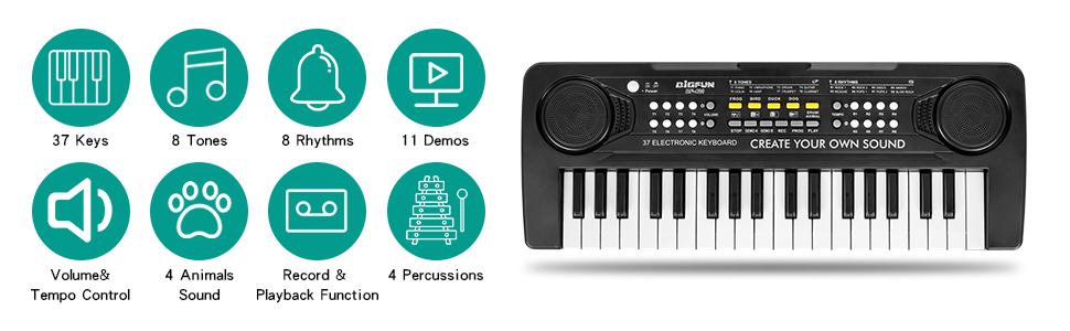 MULTIFUNCTION MUSIC KEYBOARD PIANO