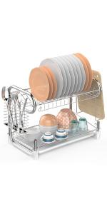 2 Tier Dish Drying Rack