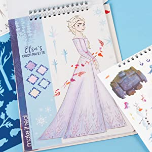 Amazon Com Make It Real Disney Frozen 2 Fashion Design Tracing Light Table Kids Fashion Design Kit Includes Light Table Disney Sketchbook Stencils Stickers Design Guide And More Toys Games