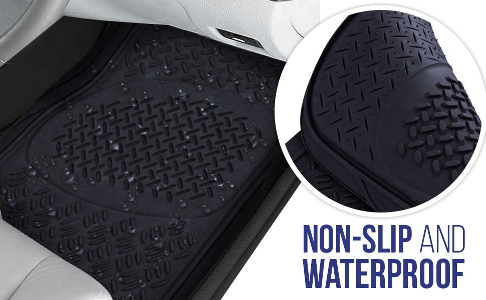 Coverking Custom Fit Front Floor Mats for Select Mustang Models Black Nylon Carpet
