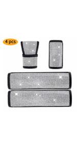 4pcs Crystal Car Accessories,