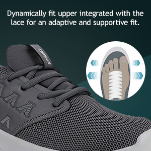 DYnamically Fit Upper Intergrated With Lace For An ADAPtive And Supportive