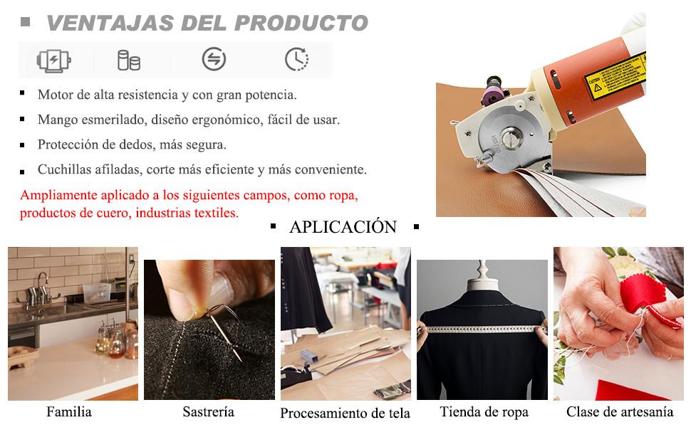 CGOLDENWALL YJ-65 Cortador de Tela Industrial Eléctrico丨Tamaño de ...