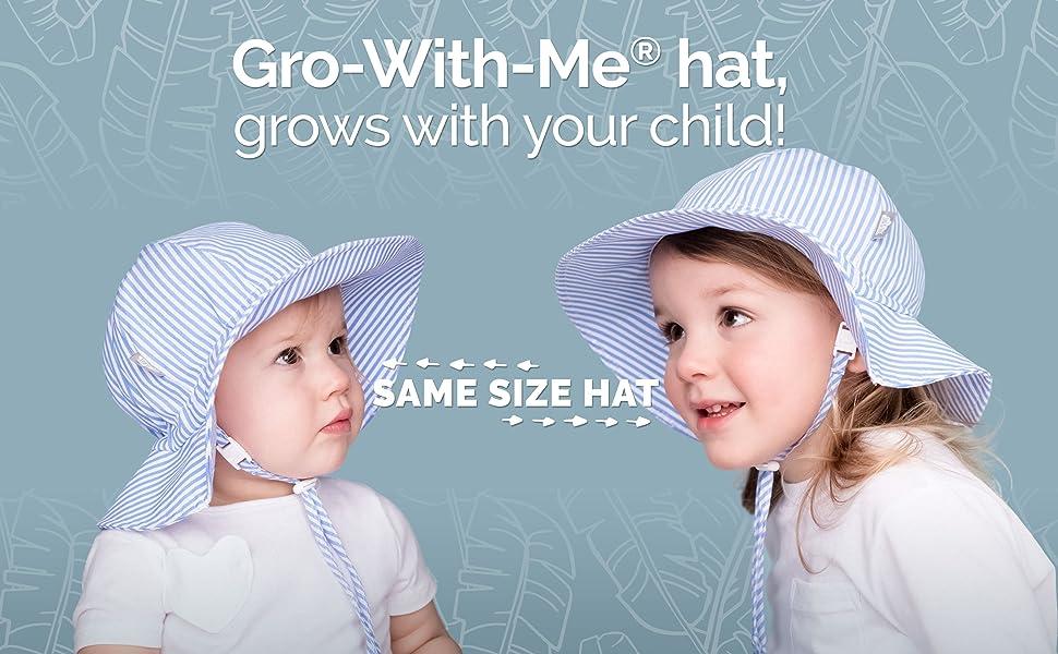 UPF 50 Cotton M: 6-24 months, Rainbow JAN /& JUL Baby Girl Sun Hat Adjustable Strap