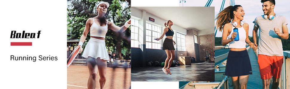 Baleaf Women's Athletic Pleated Tennis/Golf Skorts