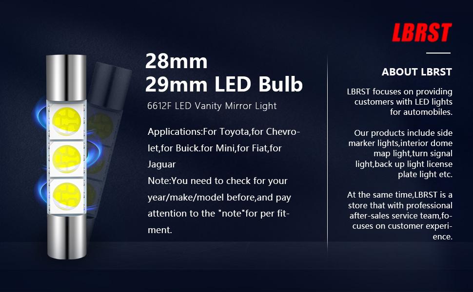 28mm led bulb