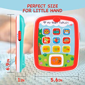 Toyshine My Baby Tablet Mobile Tab with Music Lights ABC Numbers Colors Learning Interactive Toy…