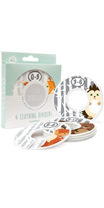 woodland creatures baby closet size dividers nursery closet dividers baby clothes dividers for baby