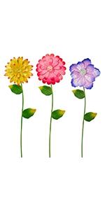 Flower Garden Stakes Decor, 3 Pack
