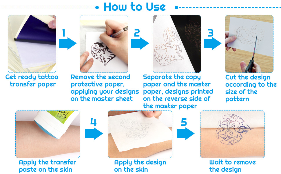 Transfer paper for tattooing