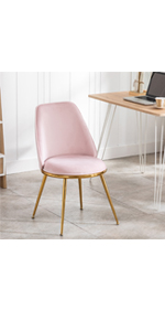 pink gold chair