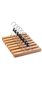 wooden pants hangers 10 Pack