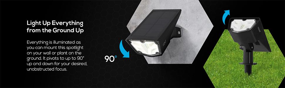 2 Pack Solar Spot Light