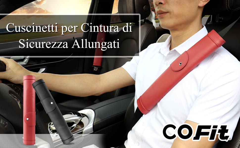 Mito Comodi Cinghie di Guida per Alfa Romeo DAETNG 2Pcs Imbottiture Cintura di Sicurezza Effetto Morbido Cuscinetti di Protezione Maniche a Spalla Morbida Accessori Auto