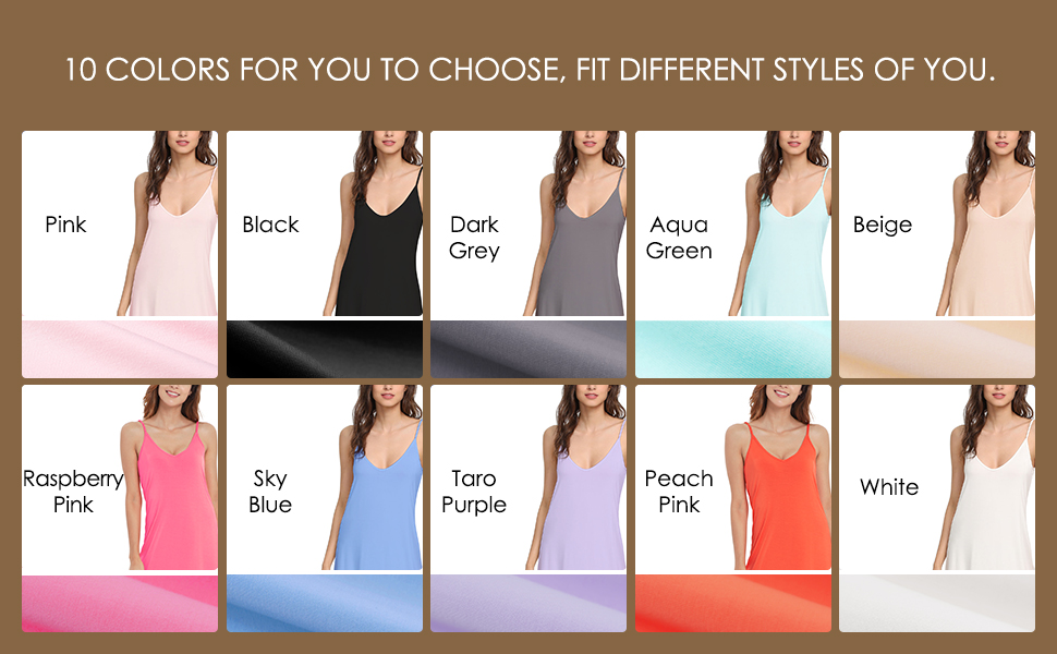 A variety of colors for your choice