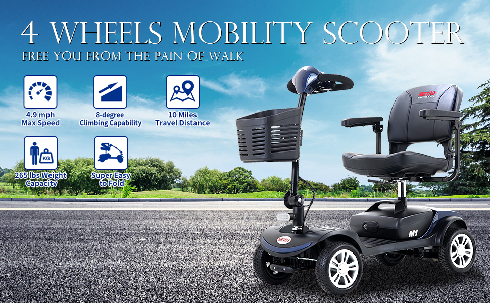4 wheel mobility scooter for adults