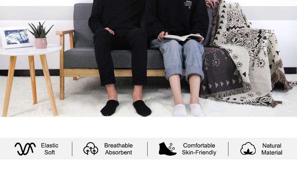 Women's Pairs Casual Thin No Show Socks