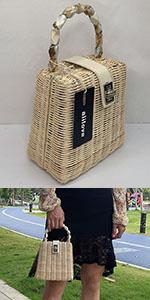 straw clutch purse