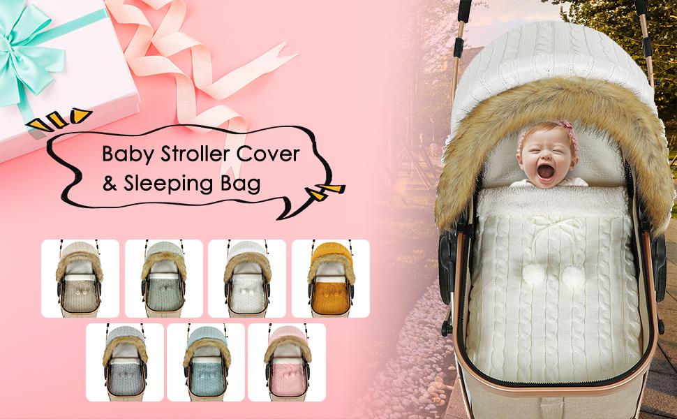 para beb/é reci/én nacido juego de saco de dormir funda para cochecito de beb/é asiento de coche para beb/é y ni/ñas iFCOW Manta para beb/é reci/én nacido