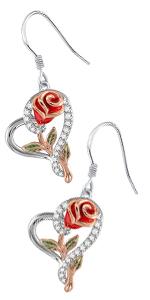 Red flower necklace set
