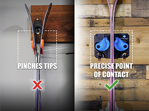 The best way to hang your skis