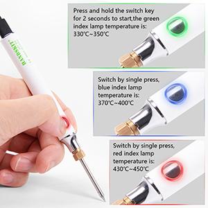 8 W Kit saldatore per saldatura filo per saldatura Handskit con supporto per saldatura con temperatura regolabile 300-450 /°C