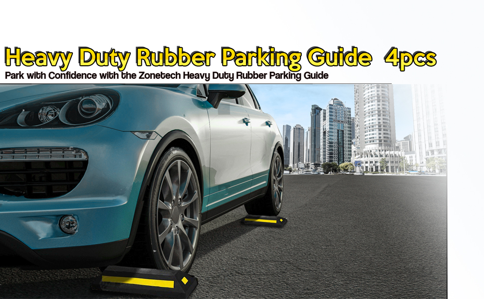 Heavy Duty Rubber Parking Guide - 4 Pcs