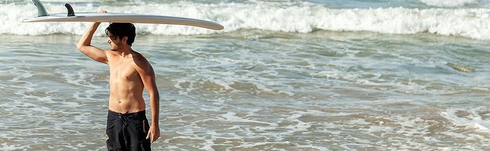 Maui Rippers women's 4-way stretch boardshort swim trunk swimshort in Spicy Mermaid
