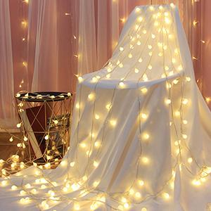 Cadena de Luces Guirnalda de Luces 5M 50LED Impermeable con Controlador Remoto 8 Modos de Luz Blanca Cálida para Jardines Casas Patios Bodas Fiesta de Navidad: Amazon.es: Iluminación