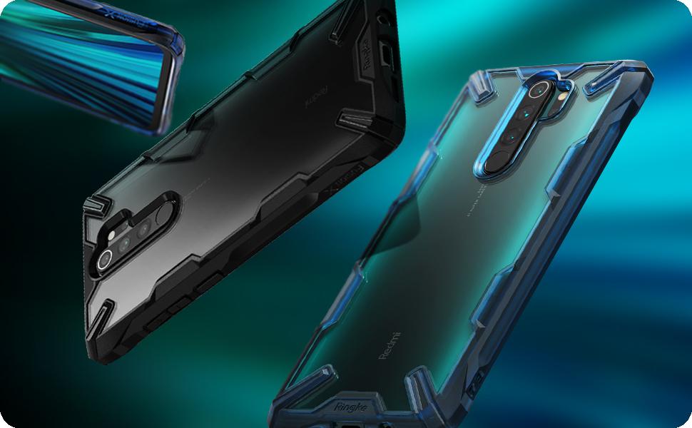 Ringke Fusion-X Disegnato per Custodia Xiaomi Redmi Note 8 PRO Black