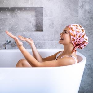 tiger, shower cap, shower cap for women, or hair cap, luxury, cute,  eco, shower caps, reusable