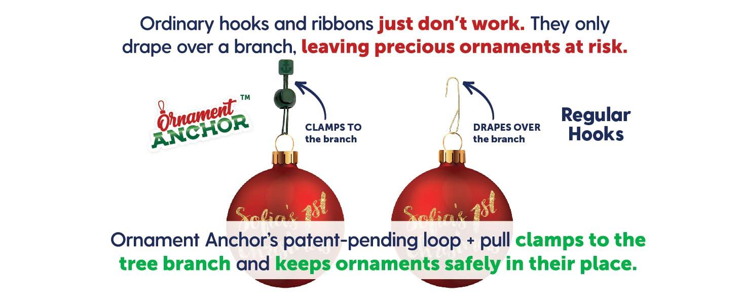Christmas ornaments hangers 130pcs Clifton Make