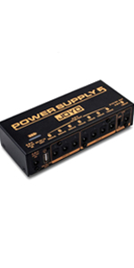 JOYO JP-05 Power Supply, Multi-channel Mobile Guitar Pedal Power Supply, with 8 DC Outputs 9V 12V