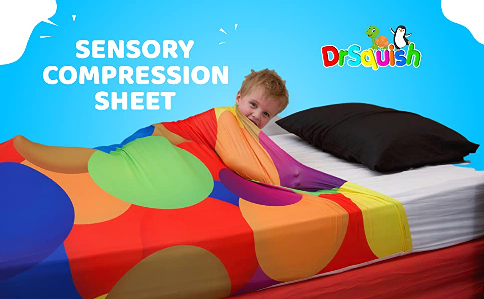sensory sheet, compression sheet, twin, full, kids sheets, autism, weighted blanket